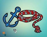 Dibujo Cuerda y áncora pintado por FUERZA