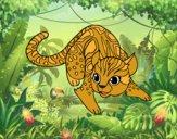 Dibujo Gato salvaje africano pintado por stepha19