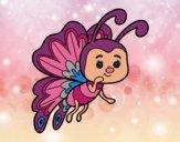 Dibujo Mariposa coqueta pintado por mariasanch