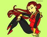 Dibujo Princesa ninja pintado por NievesMC