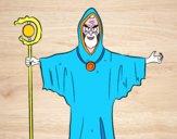 Dibujo Brujo con bastón pintado por Amayrani3