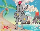 Caballero con espada y escudo