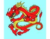 Dibujo Dragón japonés 1 pintado por danna14