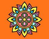 Mandala flor sencilla