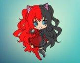 Dibujo SeeU Chibi Vocaloid pintado por annie9000