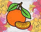 Dibujo Una mandarina pintado por Ecologia
