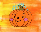 Calabaza de Halloween simpática