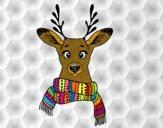 Dibujo Ciervo con bufanda pintado por nicolacito