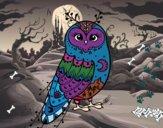 Dibujo Lechuza de invierno pintado por madison