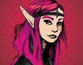 Dibujo Princesa elfo pintado por annie9000