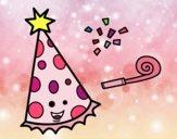 Dibujo Sombrero de fiesta pintado por luna2345