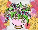 Dibujo Un jarrón con flores pintado por stepha19