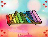 Dibujo Un xilófono pintado por Valeria100
