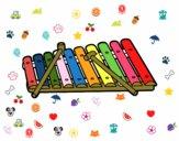 Dibujo Un xilófono pintado por yenife