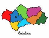 Dibujo Andalucía pintado por AleColcher