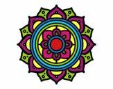 Dibujo Mandala mosaico griego pintado por genaro_del