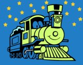 Dibujo Tren divertido pintado por tomasji