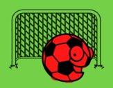 Balón en la portería