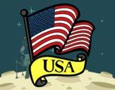 Dibujo Bandera de los Estados Unidos pintado por Clouster