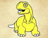 Diplodocus con la lengua fuera