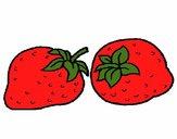 Dibujo fresas pintado por Bertha1276