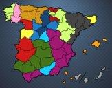 Dibujo Las provincias de España pintado por amberly