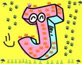 Dibujo Letra J pintado por boomboom
