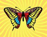 Dibujo Mariposa gran mormón pintado por martanoemi