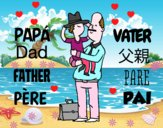 Padre e hijo con sombrero