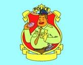 Policía con rosquilla