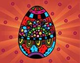 Dibujo Un huevo de Pascua floral pintado por boomboom