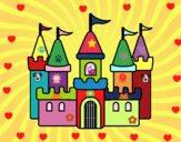 Dibujo Castillo fantástico pintado por sierva