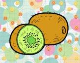 Dibujo El kiwi pintado por sierva