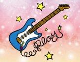 Guitarra y estrellas