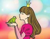 Dibujo La princesa y la rana pintado por Melod