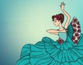 Dibujo Mujer flamenca pintado por yargelyn