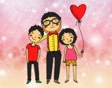 Dibujo Padre e hijos pintado por GiulianMC