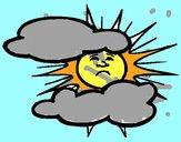 Dibujo Sol y nubes pintado por lilimonf