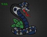 Dibujo Tatuaje de cobra pintado por jhonaitys