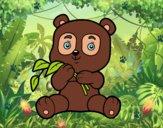 Dibujo Un oso panda pintado por jovankaS