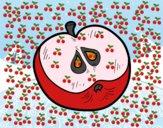 Dibujo Una media manzana pintado por sierva