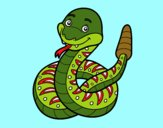 Dibujo Una serpiente de cascabel pintado por MarluB