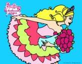 Dibujo Barbie en un saludo de agradecimiento pintado por tatyanytha