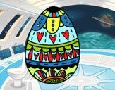 Huevo de Pascua con corazones