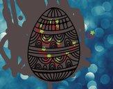 Huevo de Pascua estampado con ondas