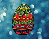 Huevo de Pascua estampado vegetal