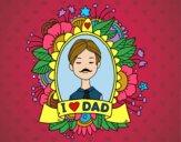 Dibujo I love Dad pintado por jovankaS