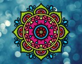 Dibujo Mandala para relajarse pintado por barbara231