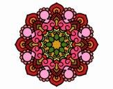 Dibujo Mandala reunión pintado por belladona