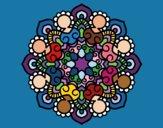 Dibujo Mandala reunión pintado por CLAUEMI